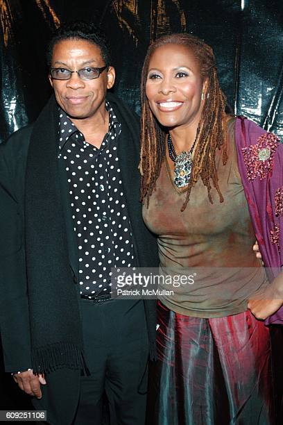 Herbie Hancock and Brenda Russell attend Halle Berry Forest Whitaker Janet Jackson Herbie Hancock Honored at Ebony's PreOscar Celebration at Jim...