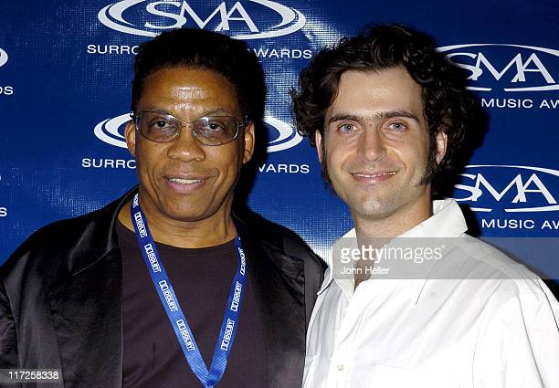 Herbie Hancock and Dweezil Zappa during 2004 Surround Music Awards at The Highlands Nightclub in Hollywood California United States