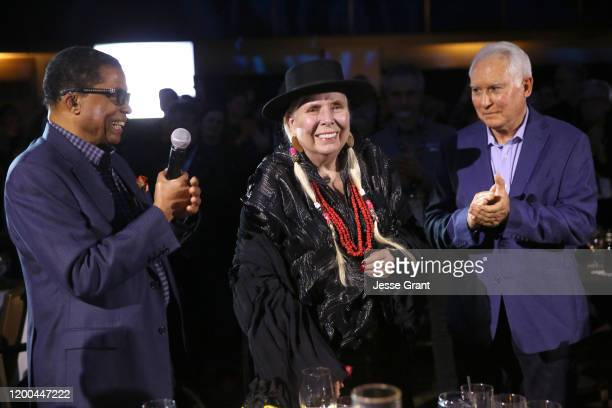Herbie Hancock and Joni Mitchell attend The 2020 NAMM Show – 35th Annual NAMM TEC Awards on January 18, 2020 in Anaheim, California.