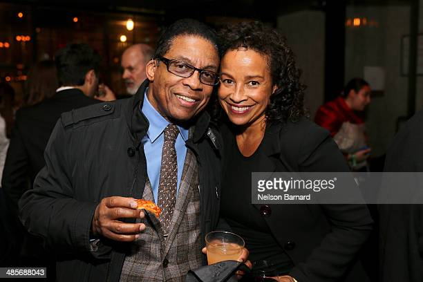Herbie Hancock and Rae Dawn Chong attends the Keep On Keepin' On Premiere after party during the 2014 Tribeca Film Festival at 121 Fulton Street on...