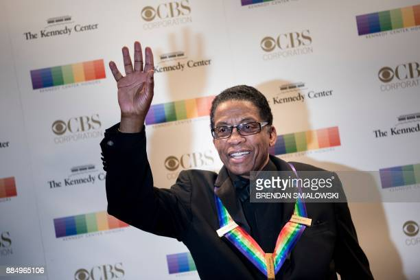 Herbie Hancock arrives for the 40th Annual Kennedy Center Honors in Washington DC on December 3 2017 / AFP PHOTO / Brendan Smialowski