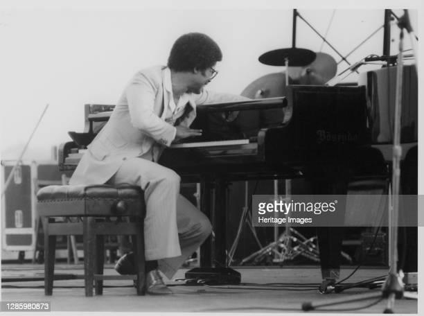 Herbie Hancock, Capital Radio Jazz Festival, Alexandra Palace, London, 1979. Artist Brian Foskett.