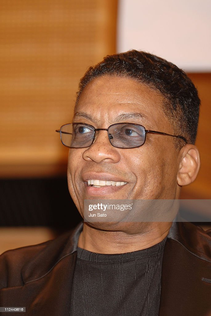 Herbie Hancock during Carlos Santana, Herbie Hancock And Wayne Shorter - Emissaries for Peace Tour - Tokyo Press Conference - July 26, 2005 at Min-On Culture Center in Tokyo, Japan.