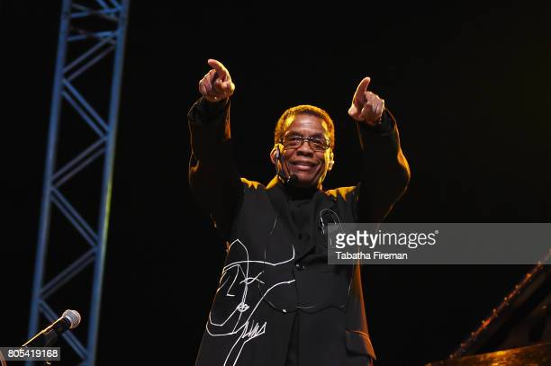 Herbie Hancock headlines the Big Top on Day 2 of Love Supreme Jazz Festival at Glynde Place on July 1 2017 in Lewes England