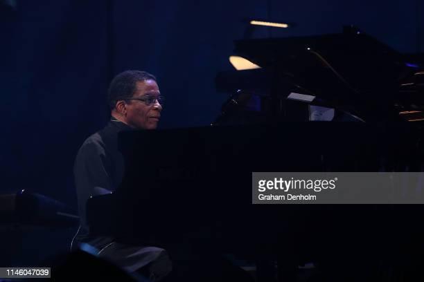 Herbie Hancock performs during the International Jazz Day 2019 AllStar Global Concert at Hamer Hall on April 30 2019 in Melbourne Australia