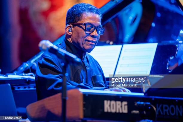 Herbie Hancock performs on stage at the Palau de la Musica on October 26 2019 in Barcelona Spain