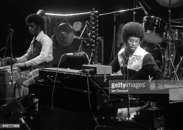 Herbie Hancock performs on stage London 1975