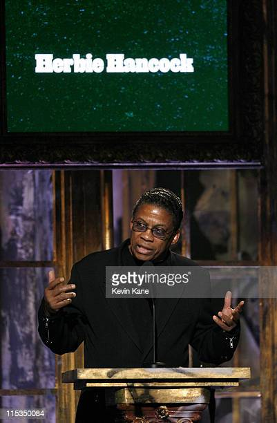 Herbie Hancock presenter during 21st Annual Rock and Roll Hall of Fame Induction Ceremony Show at Waldorf Astoria in New York City New York United...
