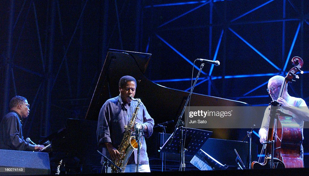 Herbie Hancock, Wayne Shorter and Dave Holland during Tokyo Jazz 2004 - Future World at Tokyo Big Sight in Tokyo, Japan.