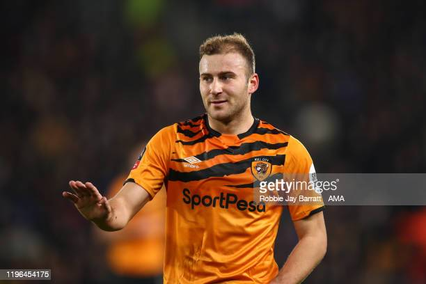 Herbie Kane of Hull City during the Emirates FA Cup Fourth Round match between Hull City and Chelsea at KCOM Stadium on January 25 2020 in Hull...