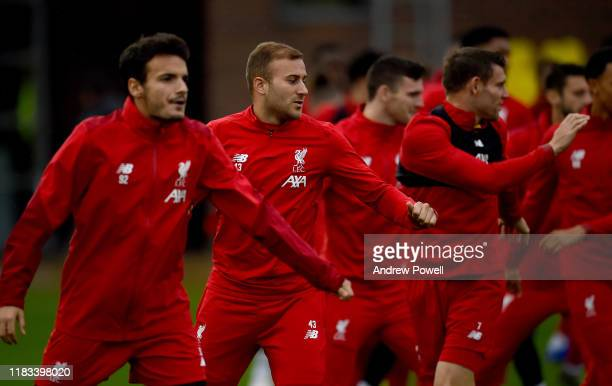 Herbie Kane of Liverpool during a training session at Melwood Training Ground on October 25 2019 in Liverpool England