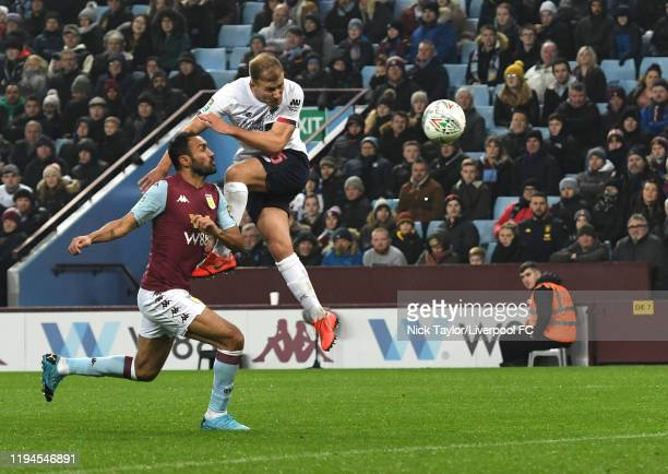 Herbie Kane of Liverpool During the Carabao Cup Quarter Final match between Aston Villa and Liverpool FC at Villa Park on December 17 2019 in...