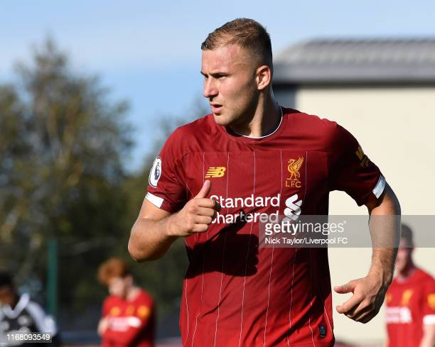 Herbie Kane of Liverpool during the PL2 game at The Kirkby Academy on September 14 2019 in Kirkby England