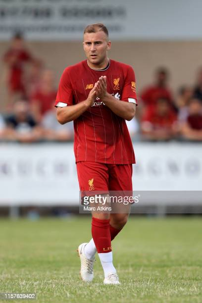 Herbie Kane of Liverpool during the PreSeason Friendly match between Coventry City and Liverpool U23 at Butlin Road on July 24 2019 in Rugby England
