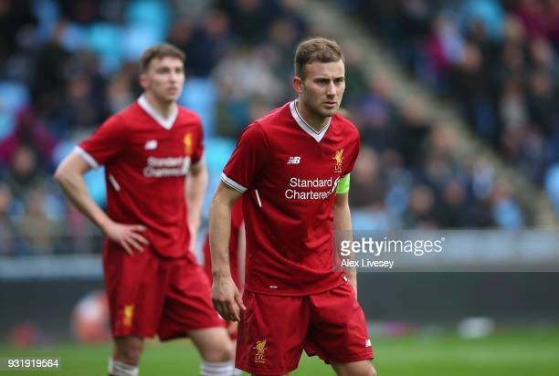 Herbie Kane of Liverpool during the UEFA Youth League QuarterFinal match between Manchester City and Liverpool at Manchester City Football Academy on...