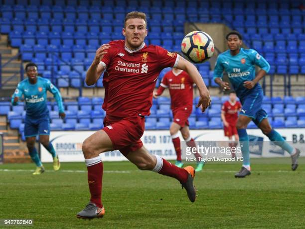 Herbie Kane of Liverpool in action during the Liverpool U23 v Arsenal U23 game at Prenton Park on April 6 2018 in Birkenhead England