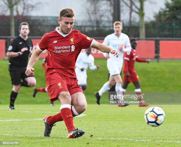 Herbie Kane of Liverpool in action during the Liverpool U23 v Swansea City U23 PL2 game at The Kirkby Academy on December 15 2017 in Kirkby England
