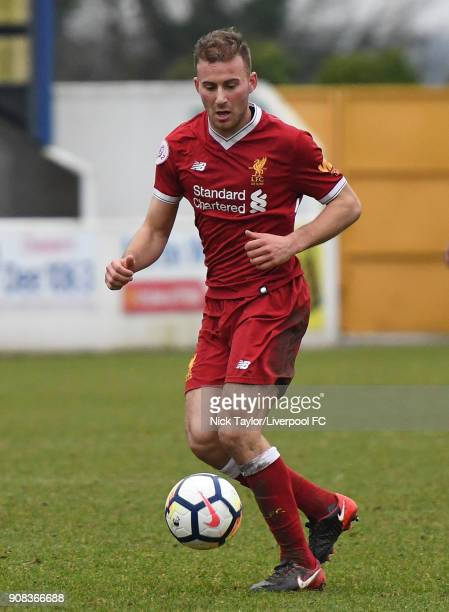Herbie Kane of Liverpool in action during the Liverpool U23 v Charlton Athletic U23 Premier League Cup game at The Swansway Chester Stadium on...