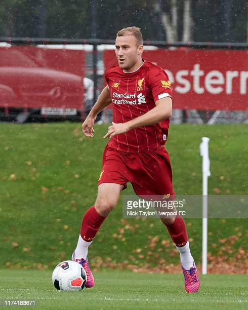 Herbie Kane of Liverpool in action during the Premier League Cup game at The Kirkby Academy on October 6 2019 in Kirkby England
