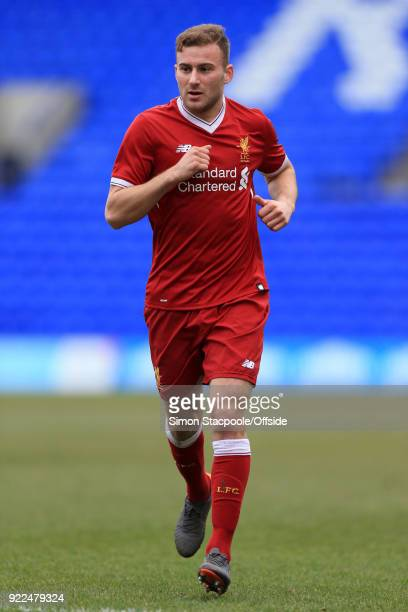 Herbie Kane of Liverpool in action during the UEFA Youth League Round of 16 match between Liverpool and Manchester United at Prenton Park on February...
