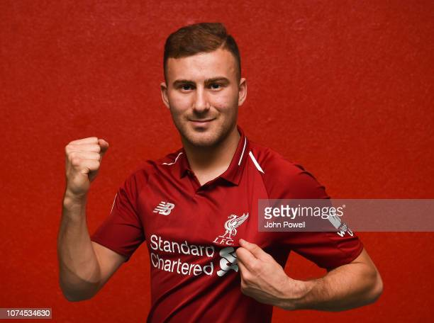 Herbie Kane of Liverpool signs a new contract at Melwood Training Ground on December 20 2018 in Liverpool England