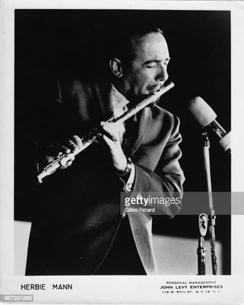 Herbie Mann performs on stage United States 1970