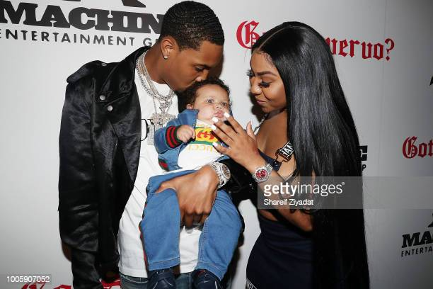 Herbo Ariana Fletcher and Yosohn Santana Wright attends G Herbo Southside Swervo Album Release Celebration on July 26 2018 in New York City