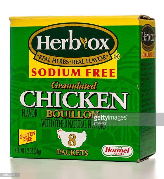 herb, ox granulada boullion de pollo - caldo pollo fotografías e imágenes de stock