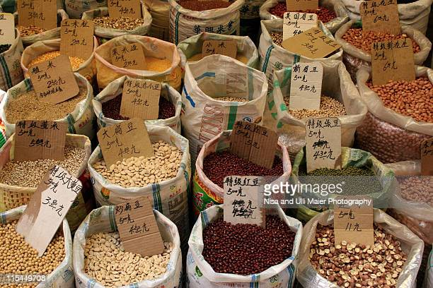 Herbs and spices at market in Guangzhou, China