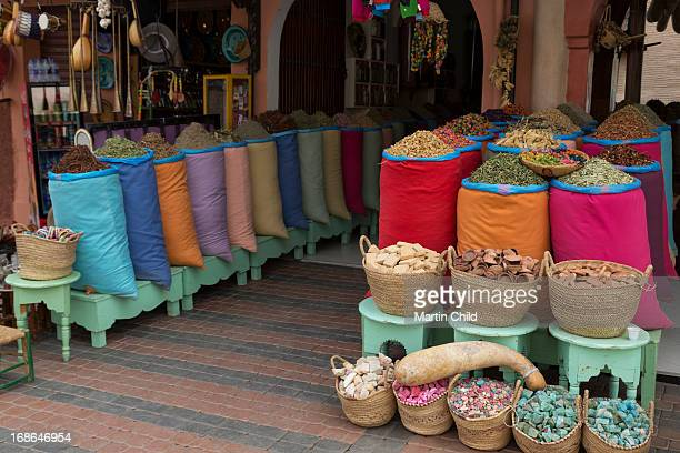 herbs and spices in the souks of Marrakech