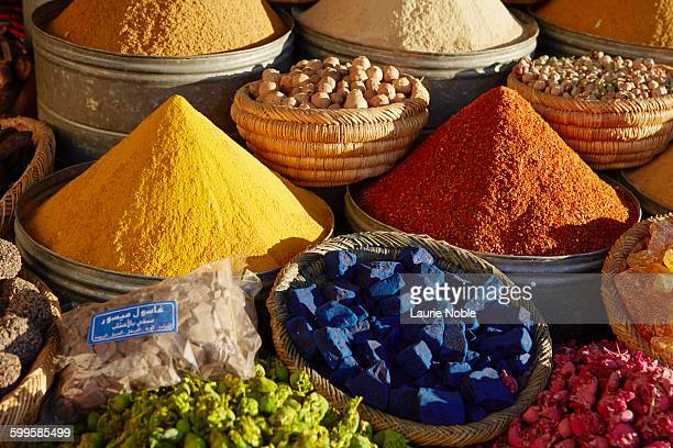 Herbs and spices on sale in the Souks, Marrakesh