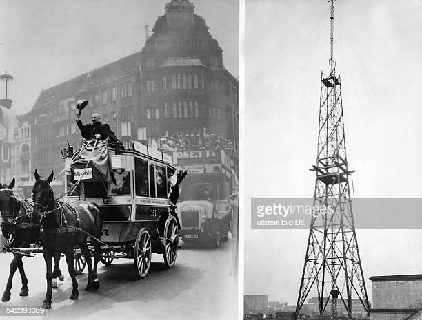 Herbst 1923: Beginn des Baus desFunkturms und die letzte BerlinerPferdebahn wurde aus dem Nachtverkehrgezogen.