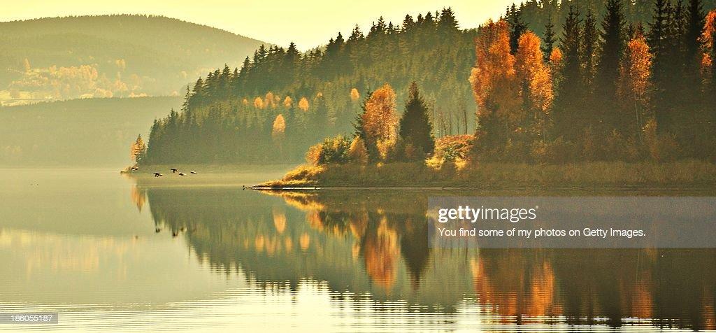 Herbststimmung Erzgebirge : Stock Photo