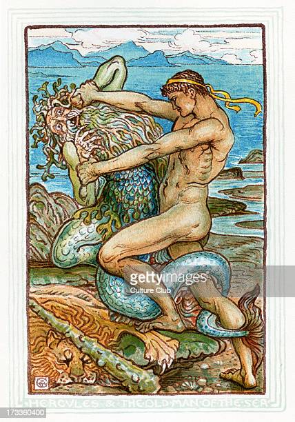 Hercules and the Old Man of the Sea Retelling of Greek Myths by Nathaniel Hawthorne Illustrations by Walter Crane 1845 1915