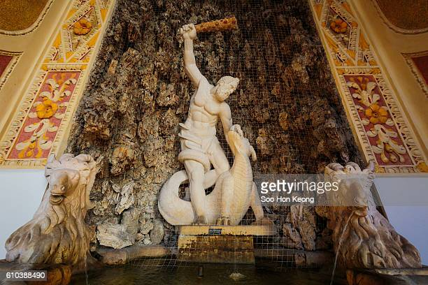 hercules fountain of salzburg residenz, austria - hercules stock pictures, royalty-free photos & images