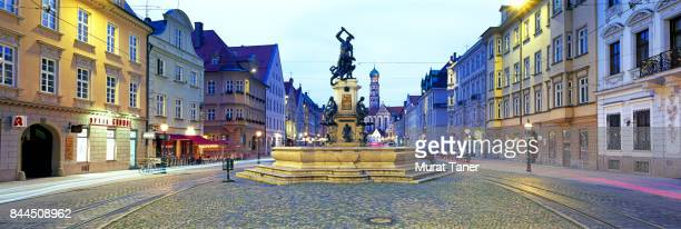 hercules fountain - augsburg stock pictures, royalty-free photos & images