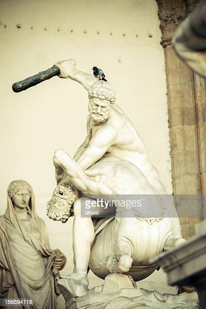 hercules killing a centaur - centaur stock photos and pictures