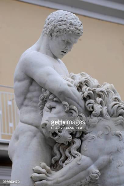 Hercules killing the lion Hercules Fountain Sessa Aurunca Campania Italy 19th century