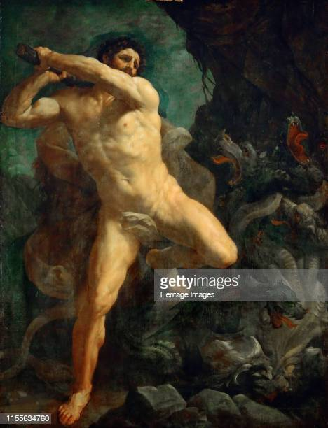 Hercules Slaying the Hydra of Lerna 16201621 Found in the Collection of Musée du Louvre Paris Artist Reni Guido