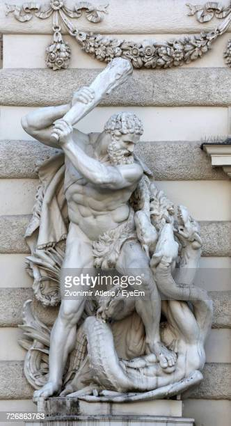 hercules statue at hofburg palace - hercules stock pictures, royalty-free photos & images