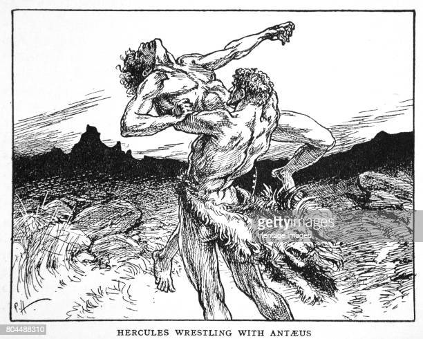 Hercules Wrestling with Antaeus' 1925 According to Greek Mythology Antaeus was a giant the son of Poseidon and Gaia He would challenge passersby to a...