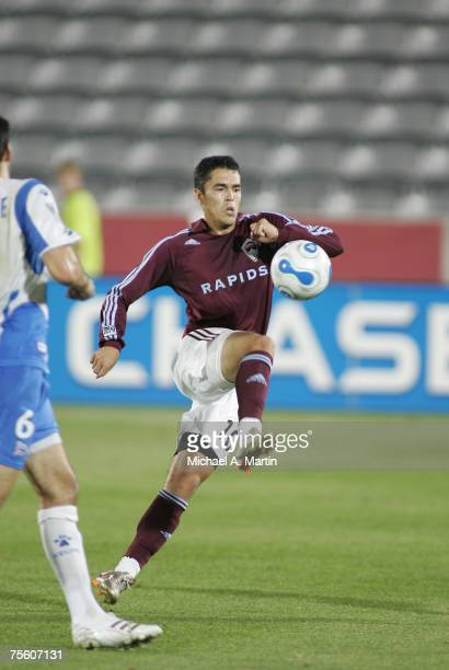 Herculez Gomez of the Colorado Rapids against the California Victory on July 10, 2007 at Dick's Sporting Goods Park in Commerce City, Colorado.