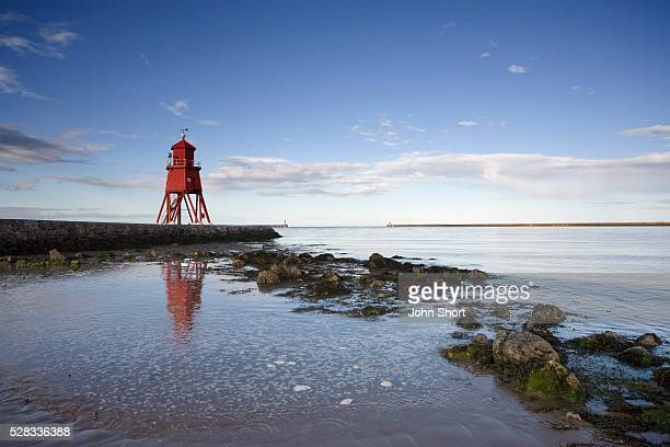 Herd Groyne Lighthouse, South Shields, Tyne and Wear, England