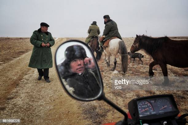 Herdsmen begin winter migration on November 28 2017 in Altay Xinjiang Uyghur Autonomous Region of China Kazak herdsmen begin the winter migration in...