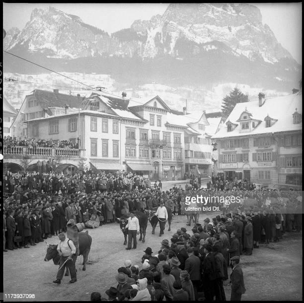 Herdsmen fair in Schwyz 1959 Herdsmen fair in Schwyz 1959