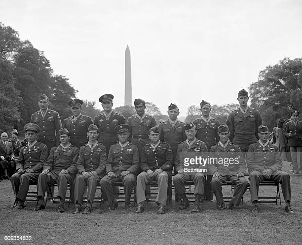 Here are the fifteen servicemen of World War II who were awarded the Congressional Medal of Honor in a mass presentation ceremony in the White House...