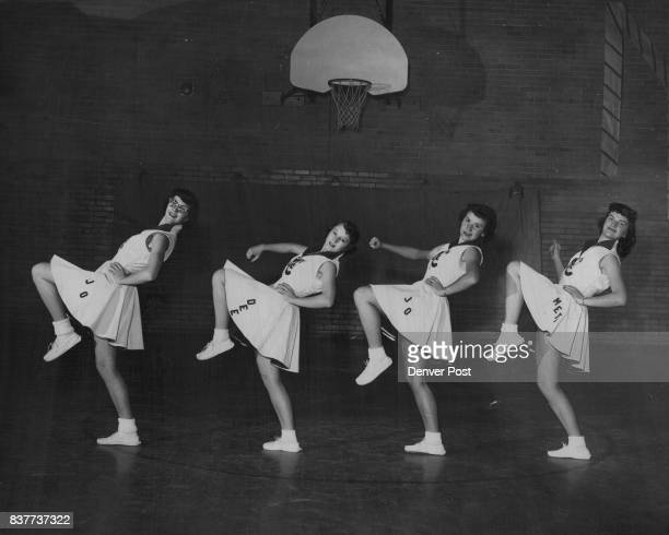 Here are the four girls that pepped things up during the past season when Craig's basketball team was in action They are Jo Ann Deyo Dorothy Ayers...