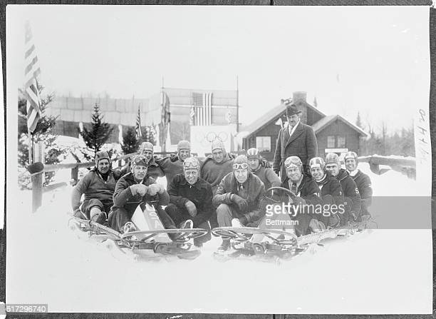 Here are the members of the 1936 Olympic Games Bobsled Team of the United states at Lake Placid New York after they had been selected to go to...