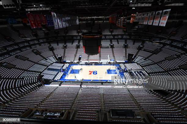 Here are TShirts for Australian Heritage Night that were laid out for fans of the Philadelphia 76ers against the Chicago Bulls at Wells Fargo Center...