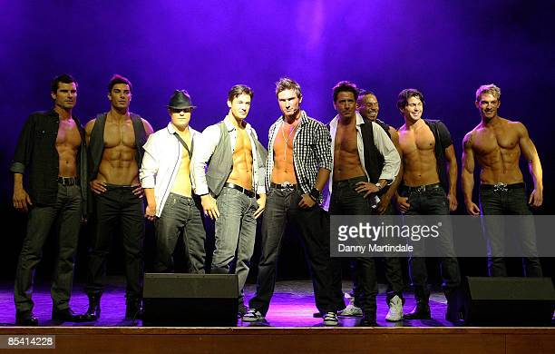 Here Come The Boys including former members of erotic male dance group The Chippendales attend the press launch for their UK tour at IndigO2 at the...